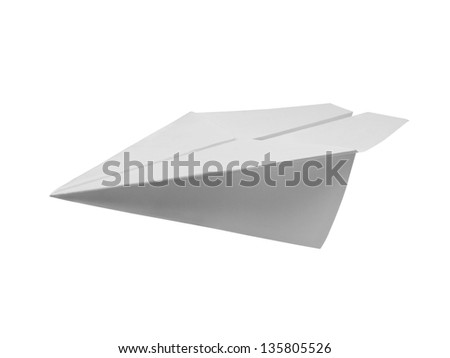 Paper plane isolated with clipping path - stock photo