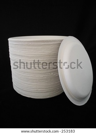 Paper Plates - stock photo