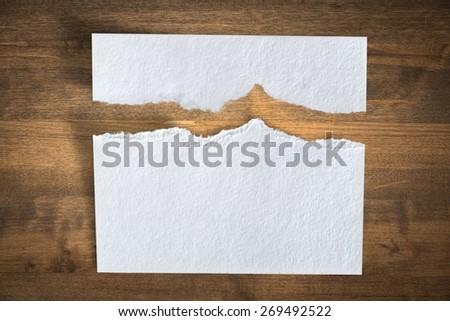 Paper. Ragged White Paper - stock photo