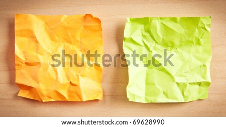 Paper reminders on the background - stock photo