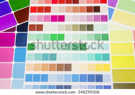 Paper samples with different colour