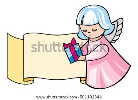 Angel Retro Scroll Stock snímky, snímky pro členy zdarma a ...