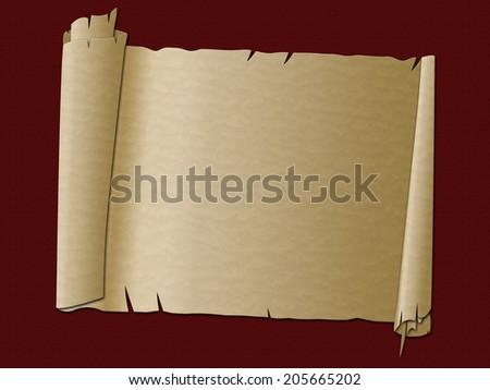 Paper Scroll Indicating Rolled Up And Manuscript