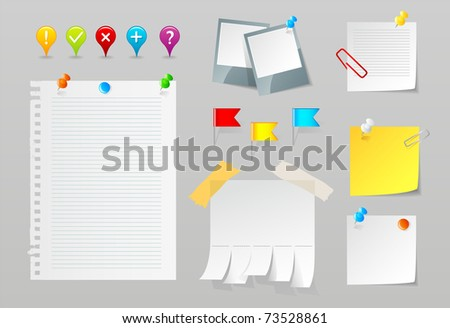 Paper set - stock photo
