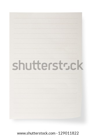 Paper sheet on white background - stock photo