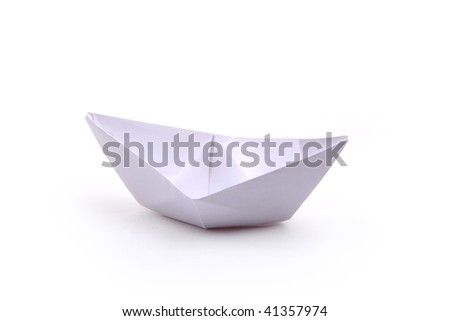 paper ships isolated on white