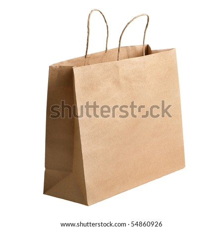 Paper shopping bag - stock photo