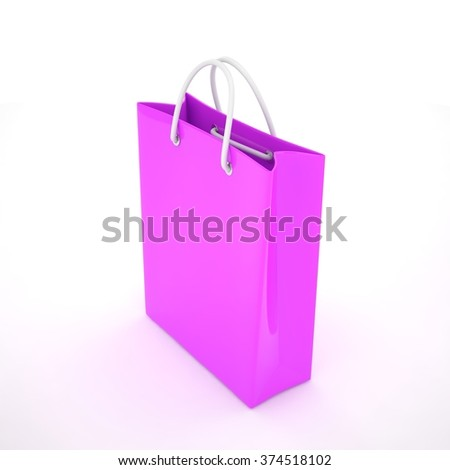Paper Shopping Bag isolated on white background