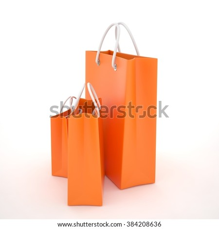 Paper Shopping Bags isolated on white background