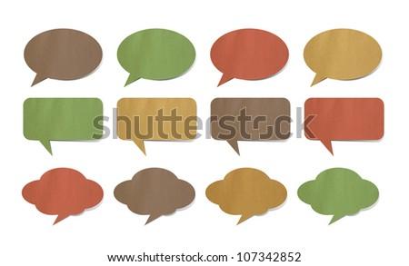 Paper speech bubbles - stock photo