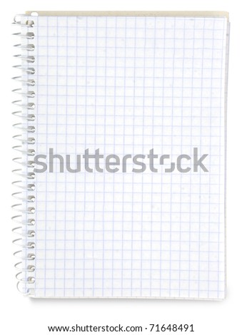 paper spiral notebook isolated on white