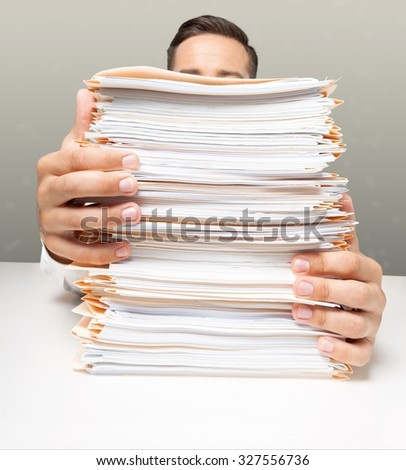Paper Stack. - stock photo