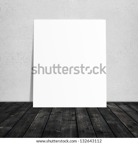 paper stand and wooden floor