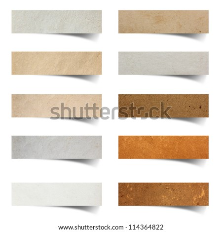 paper stick on white background - stock photo