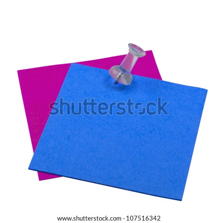 paper stickers isolated on white background - stock photo