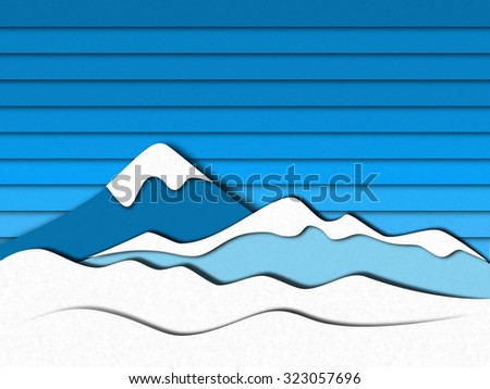 Paper style mountain picture