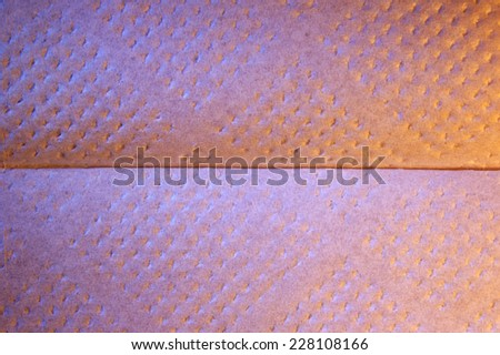 Paper surface with shallow depressions  - stock photo
