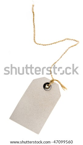 paper tag isolated - stock photo