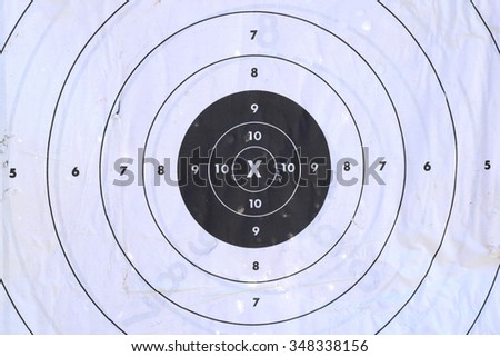paper target for shooting gun