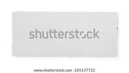 Paper tear - stock photo