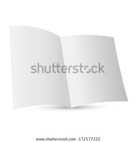 Paper template booklet  - stock photo