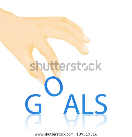 Paper texture ,Hand made goals word - stock photo