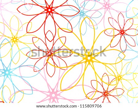 paper texture with flowers design pattern - stock photo