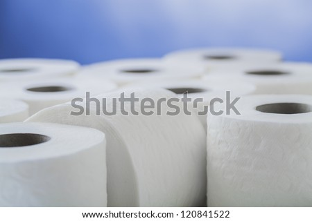 paper toilet rolls - stock photo