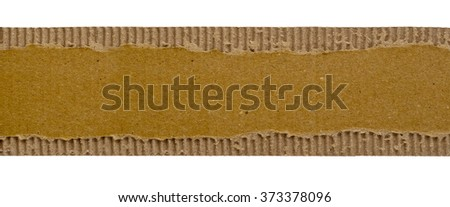 Paper torn strip isolated on a white background. Old piece of paper as a background. - stock photo