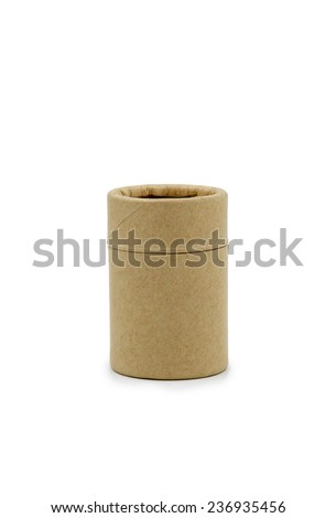 paper tube container - stock photo