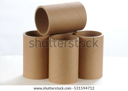 Paper Tubes, Cardboard tube on a white background