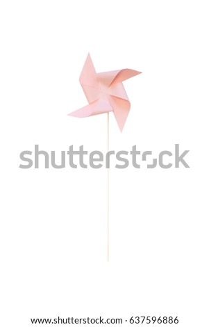 paper windmill Isolated on white background
