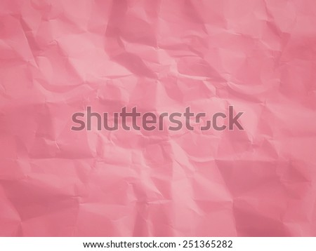 paper with pink crumpled surface - stock photo