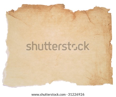 paper with torn edges over white background