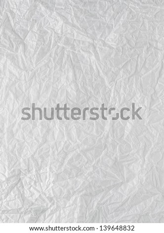 Paper wrinkled - stock photo