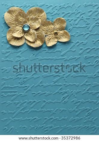 Papercraft card face - stock photo