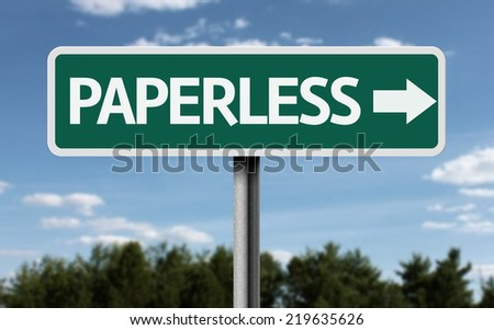 Paperless creative sign - stock photo