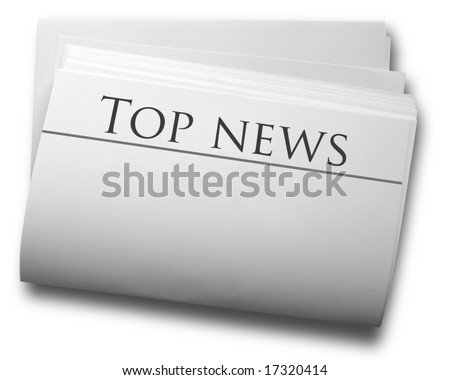 Papers sheet with news word - stock photo