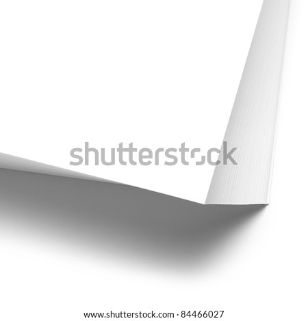 Papers stack on white background
