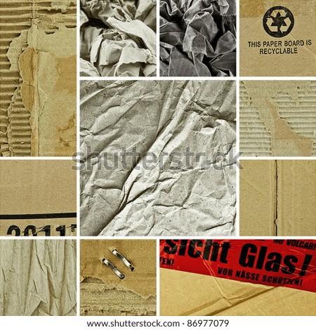 Papier Collage - stock photo