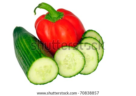 paprika and cucumber