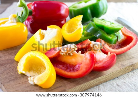 paprika peppers  - stock photo