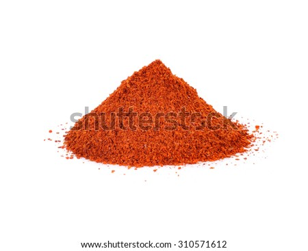 paprika powder isolated on white