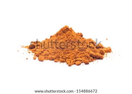 Paprika spices isolated on the white background - stock photo