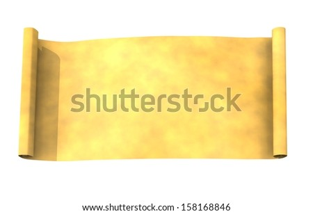 papyrus roll - stock photo