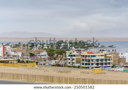 PARACAS, PERU, MAY 22, 2014: General view of Paracas