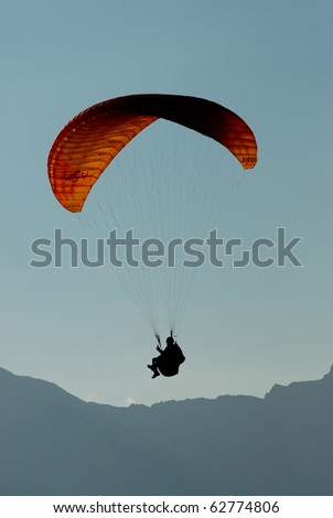 parachute - stock photo