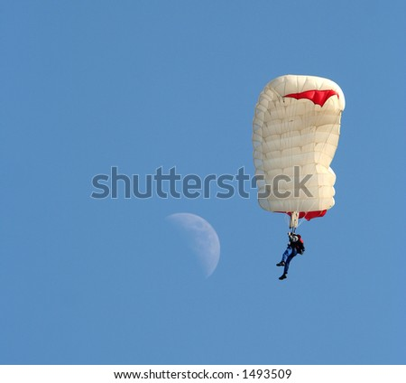 Parachuter - stock photo