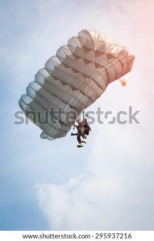 Parachutist - stock photo
