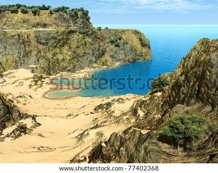 paradise cliffs - stock photo